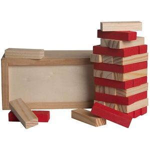 Wood Tower Puzzle - Red
